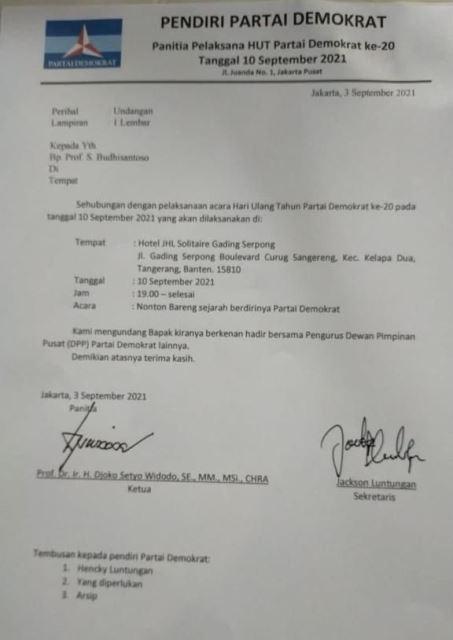 Moeldoko Gelar HUT Tandingan di Tangerang, DPD Demokrat Banten Geram, Siap Geruduk!