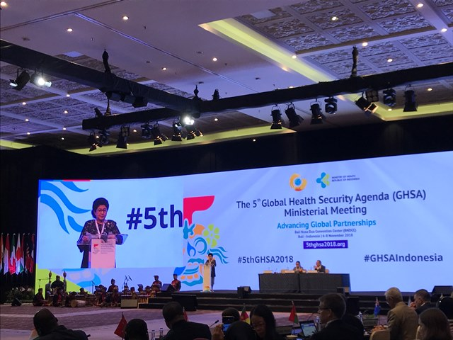 Pembukaan GHSA Bukti Peran Indonesia Wujudkan Ketahanan dan Kesehatan Global