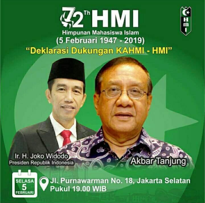 Akbar Tandjung Klarifikasi Pamflet HMI Dukung Jokowi