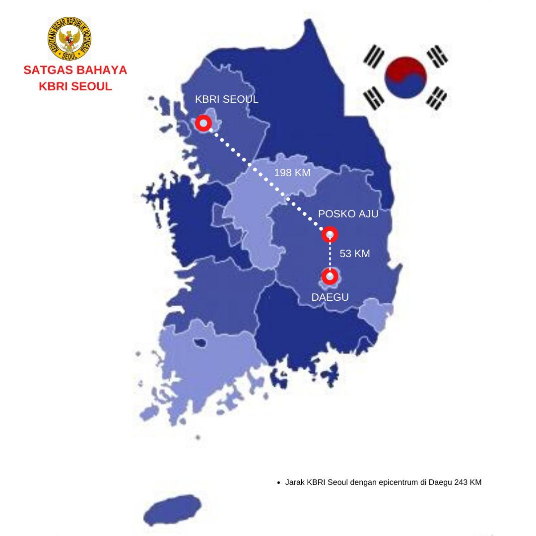 KBRI Seoul Buka Posko Aju Dekat Daegu