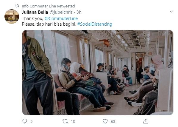 <i>Social Distancing</i> Mulai Terasa di KRL