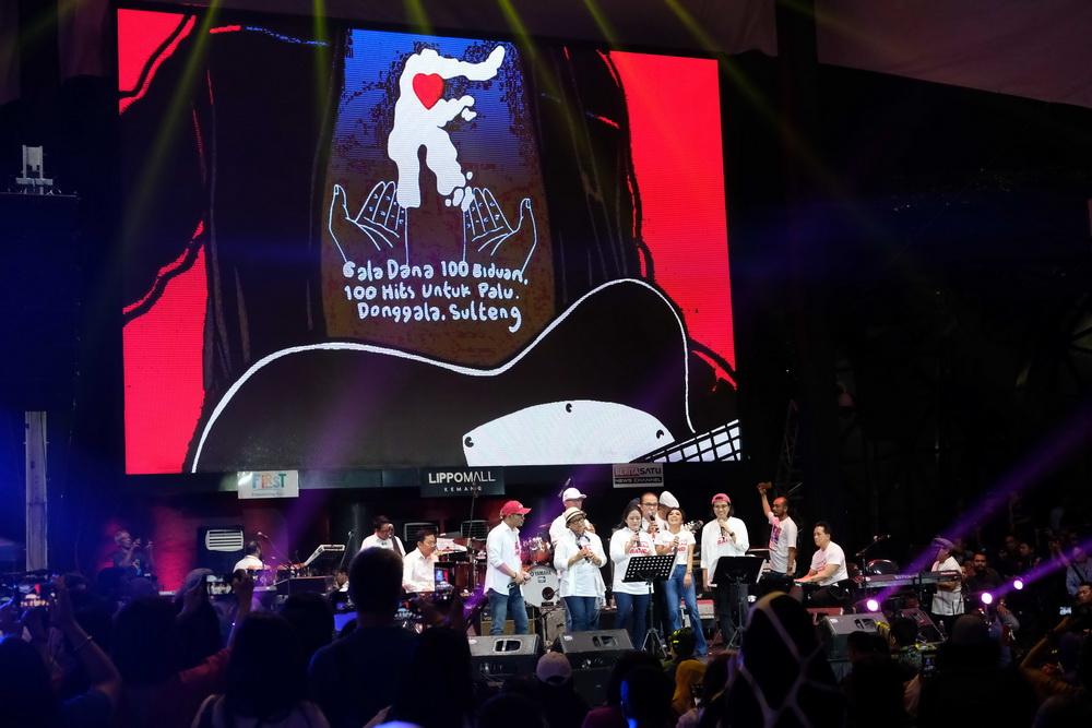 Jumlah Donasi Konser Gala Dana untuk Palu Melebihi Ekspektasi