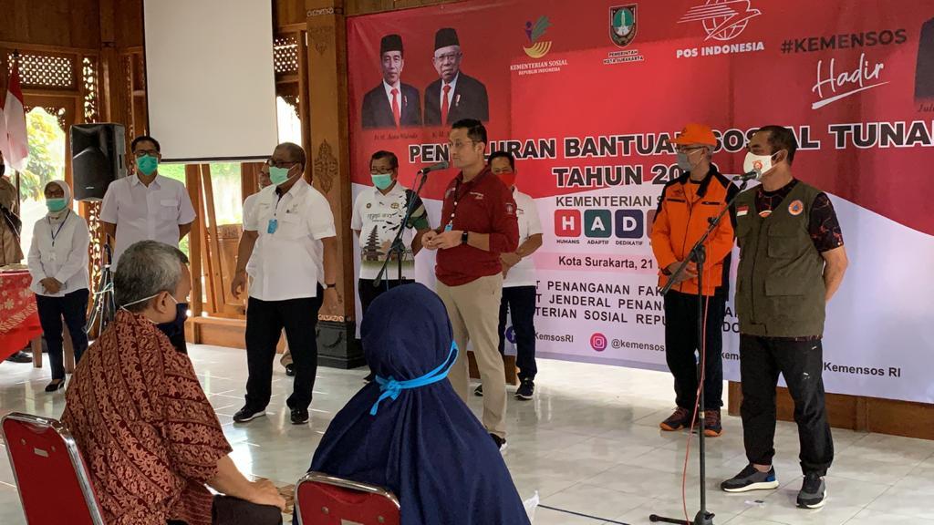 Kemensos Cairkan Bansos Tunai Perdana di Jawa Tengah
