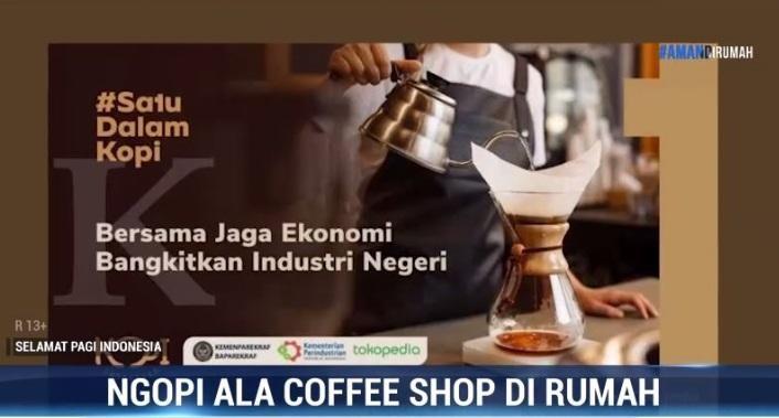 Ngopi ala Coffee Shop di Rumah