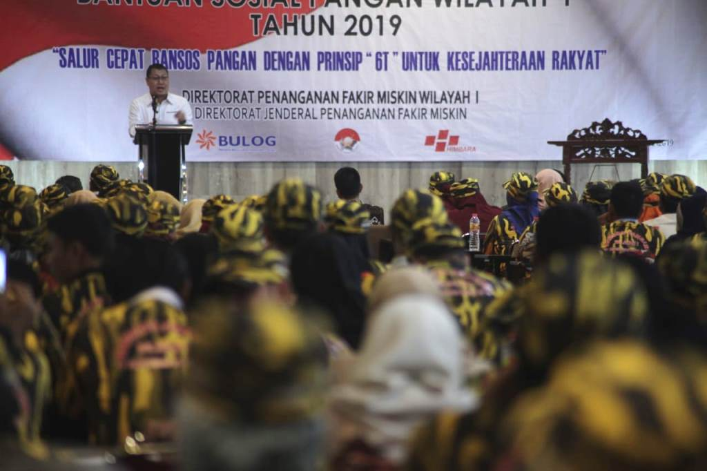 Tekan Angka Kemiskinan, Kemensos Sinergikan Penyaluran Bansos Pangan 2019
