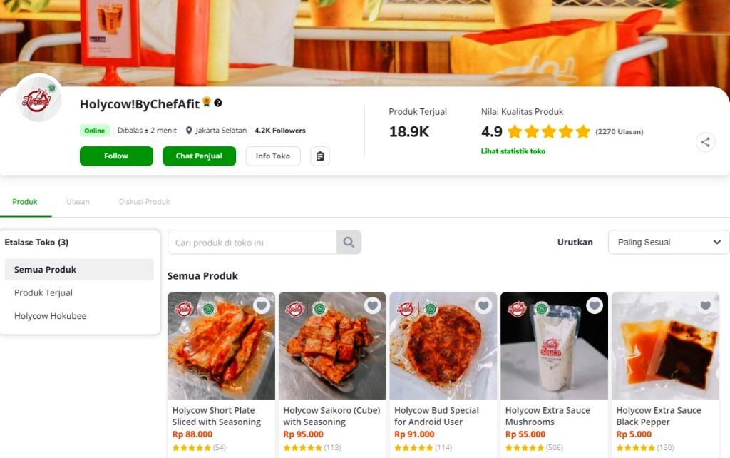 Holycow! By Chef Afit: Lawan Pandemi Lewat Inovasi Produk dan Jualan Online