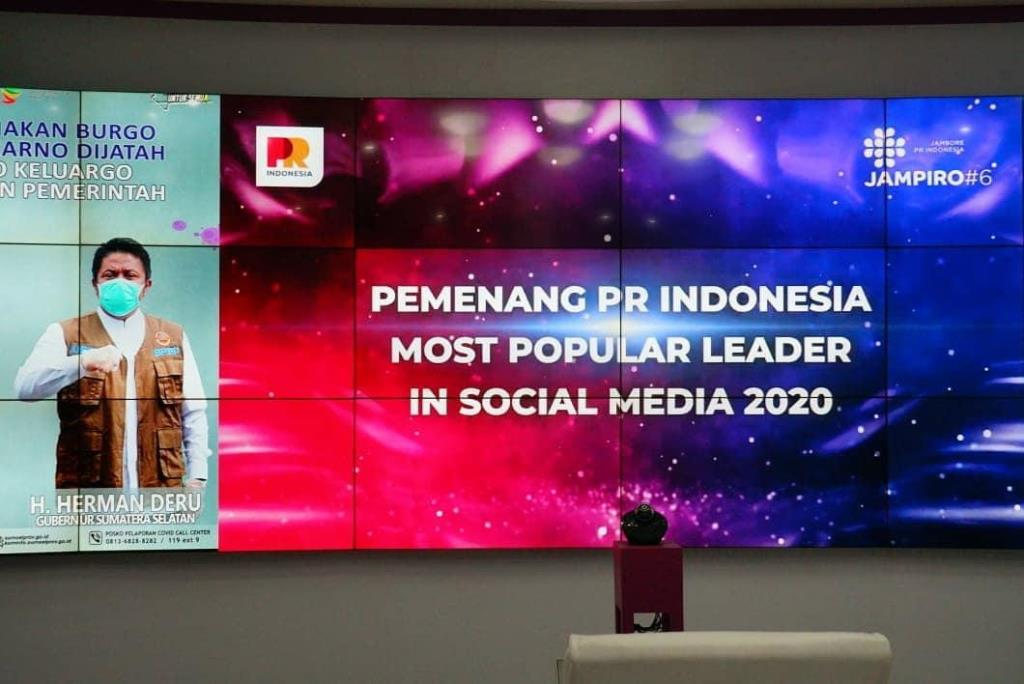 Herman Deru Gubernur Paling Populer dari Pulau Sumatra