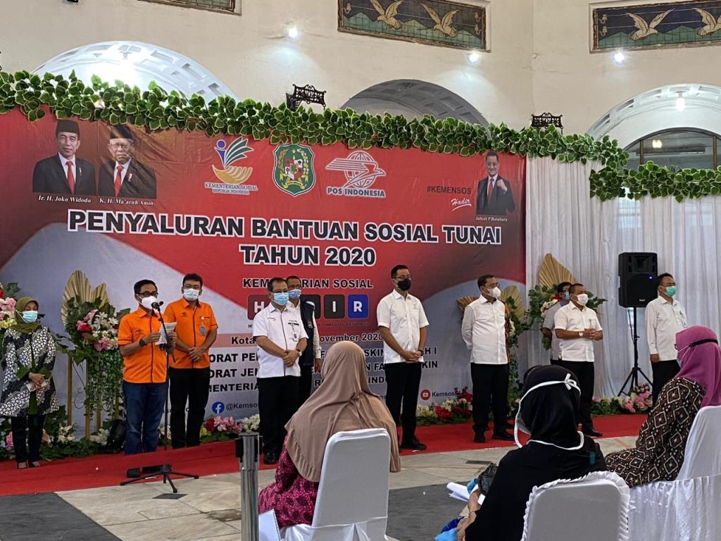 88 Persen Bansos Tunai Kemensos Telah Disalurkan di Medan