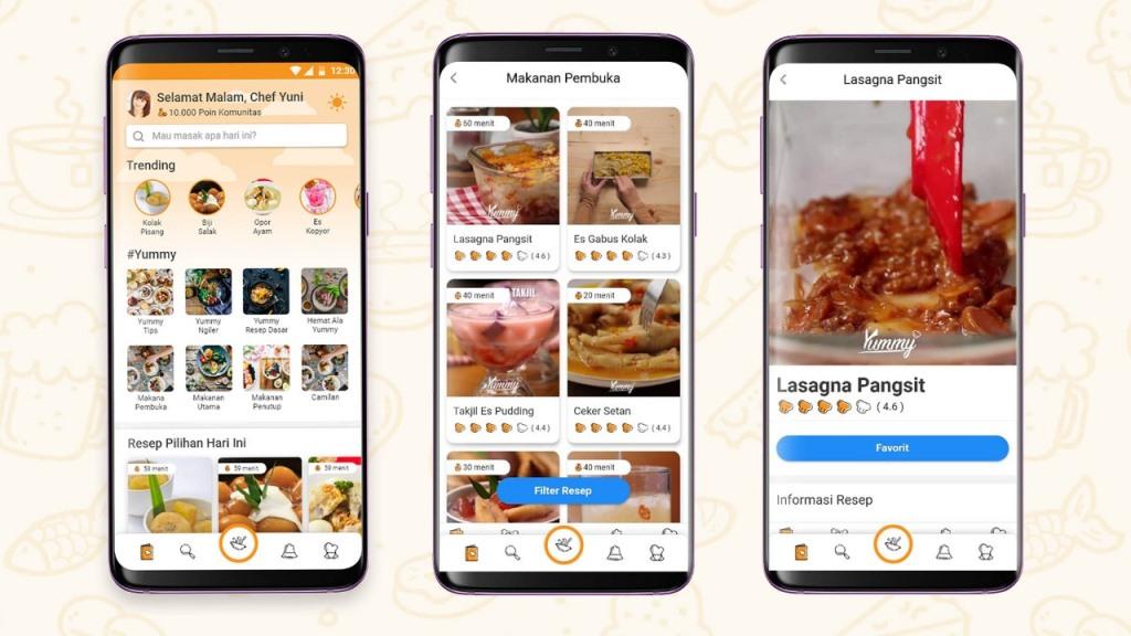 Yummy App, Aplikasi Panduan Memasak dengan Mudah