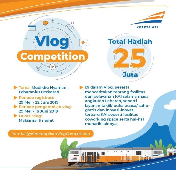 KAI Gelar Kompetisi Vlog Mudikku Nyaman Lebaranku Berkesan