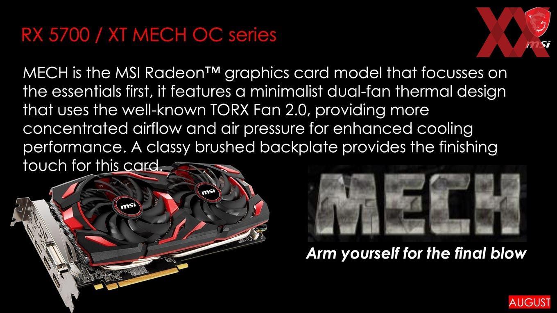 MSI Siapkan 7 Seri AMD Radeon RX 5700 Versi Custom
