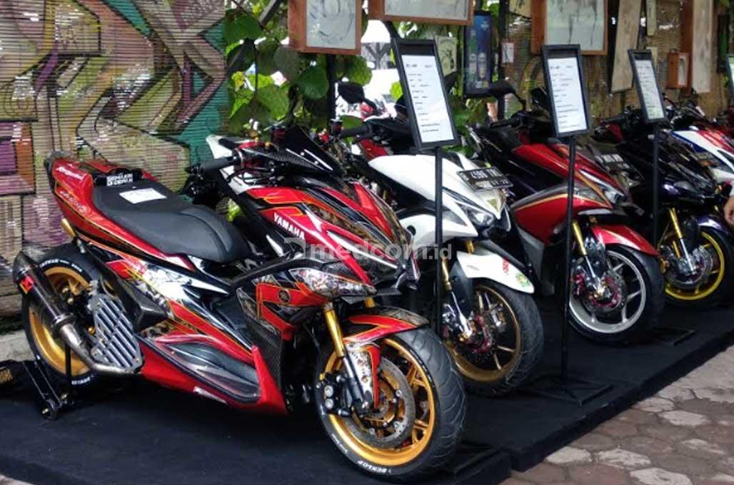 45 Motor Modifikasi Bertarung di CustoMaxi x Yamaha Heritage Built