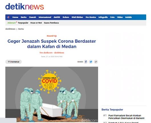 [Cek Fakta] Viral Foto Jenazah Positif Covid-19 Dikuburkan Masih Mengenakan Daster dan Tidak Sesuai Syariat Islam