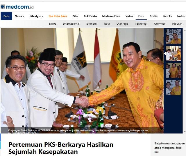 [HOAKS] PKS dan Partai Berkarya Pesta Bir