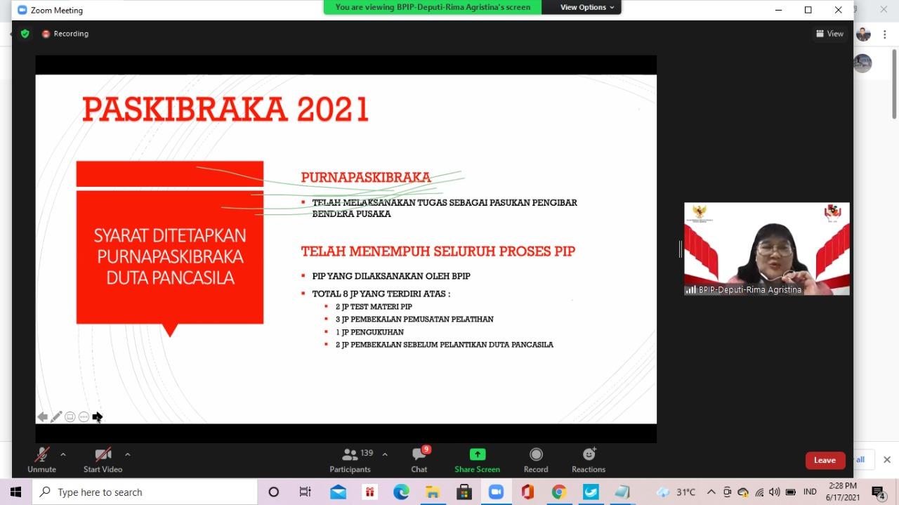 Pemerintah Tunjuk Anggota Paskibraka sebagai Duta Pancasila
