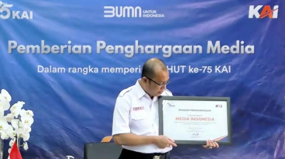 Metro TV dan Media Indonesia Raih Penghargaan dari PT KAI