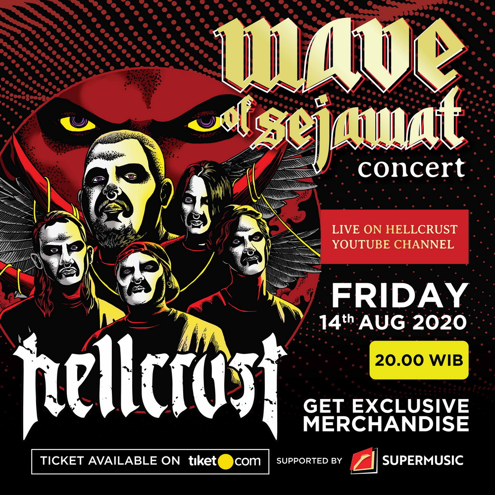 Hellcrust Gelar Konser Virtual Wave of Sejawat