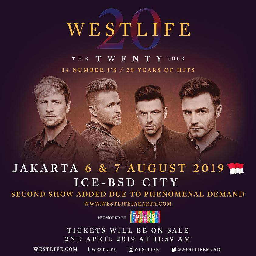 Konser Westlife di Indonesia Digelar Dua Hari