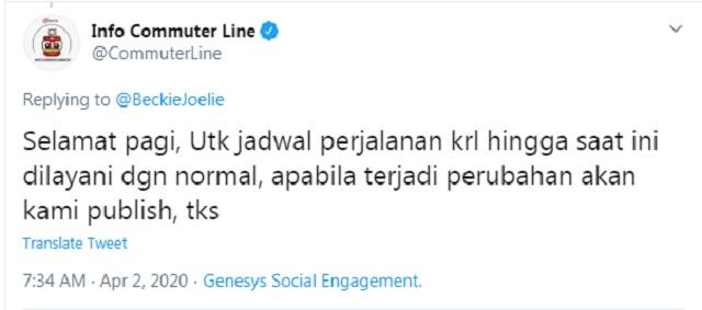 [Cek Fakta] Pemerintah Setop Layanan KRL, MRT, LRT, dan TransJakarta hingga Tutup Terminal di Jabodetabek Mulai Hari Ini?