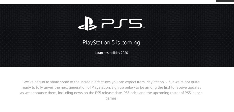 Jelang Rilis, Sony Siapkan Halaman Situs PS5