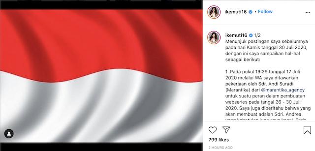 [Cek Fakta] Tawaran Pekerjaan Artis Ini Batal terkait Foto Bareng Jokowi di Medsos? Simak Faktanya