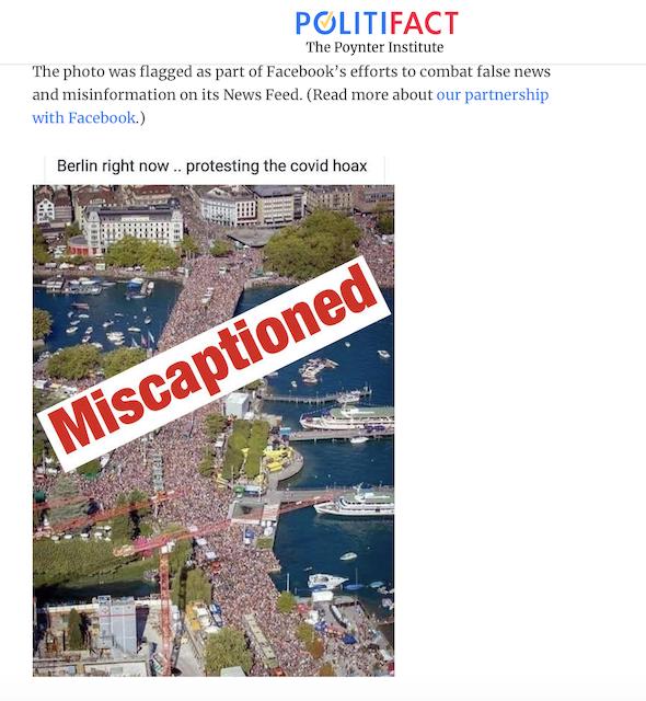 [Cek Fakta] Beredar Foto Jutaan Warga Jerman Turun ke Jalan Tolak Virus Korona? Ini Faktanya