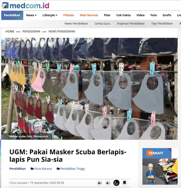 [Cek Fakta] Pelarangan Masker <i>Scuba</i> Dikabarkan karena Alasan Politik Perusahaan? Cek Faktanya