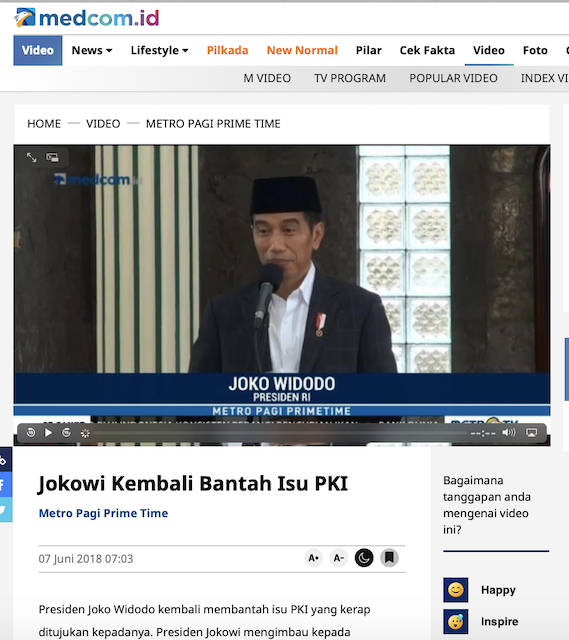 [Cek Fakta] Bambang Trihatmodjo Sebut Ada Dokumen yang Buktikan Jokowi Anak Gembong PKI? Cek Faktanya
