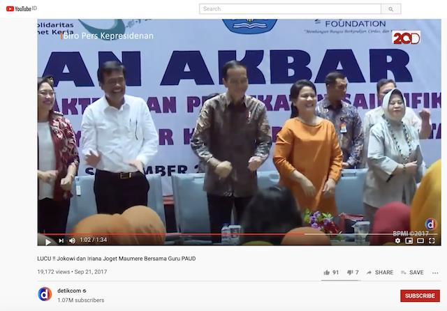 [Cek Fakta] Beredar Video Jokowi Berjoget saat Rakyat Demo Tolak UU Ciptaker Omnibus Law? Ini Faktanya