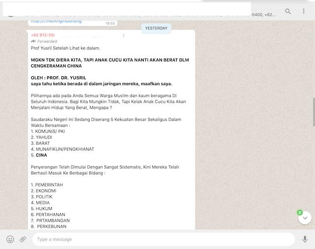 [Cek Fakta] Beredar Tulisan Yusril Sebut Indonesia Diserang 5 Kekuatan Besar? Ini Faktanya