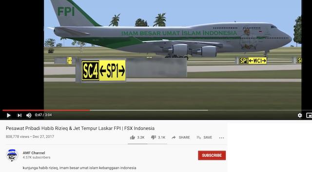[Cek Fakta] Video Penampakan Pesawat Rizieq Shihab Tiba di Indonesia? Ini Faktanya