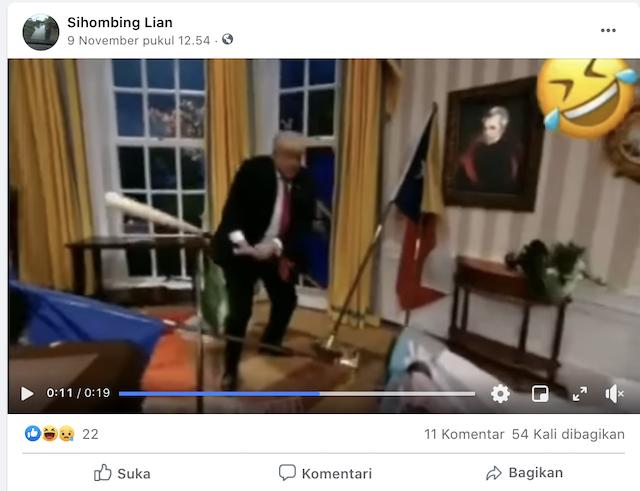 [Cek Fakta] Video Trump Ngamuk Hancurkan Barang-Barang di Dalam Gedung Putih? Ini Faktanya
