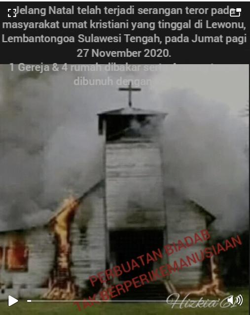 [Cek Fakta] Foto Penampakan Gereja Dibakar di Sulawesi Tengah, Hoaks