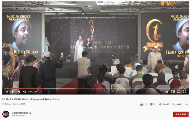 Di Malaysia, Rizieq Shihab Dapat Penghargaan sebagai Ulama yang Gigih dan Simbol Menentang Kesewenang-Wenangan? Ini Faktanya