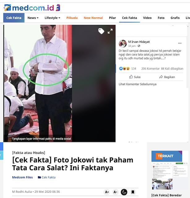 [Cek Fakta] Foto Jokowi yang Sedang Salat Ini Dipertanyakan? Simak Faktanya