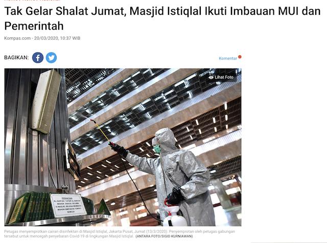 [Cek Fakta] Dikuasai PKI, Masjid Istiqlal Tiadakan Salat Jumat? Ini Faktanya