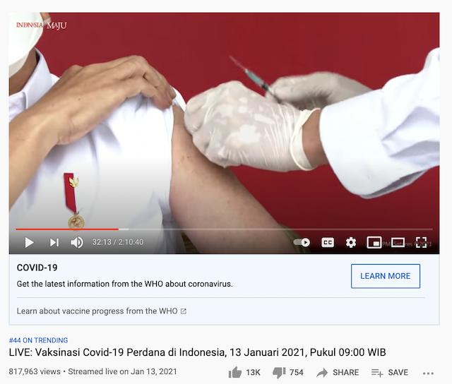 [Cek Fakta] Presiden Gunakan Vaksin Buatan Eropa bukan Tiongkok? Ini Faktanya