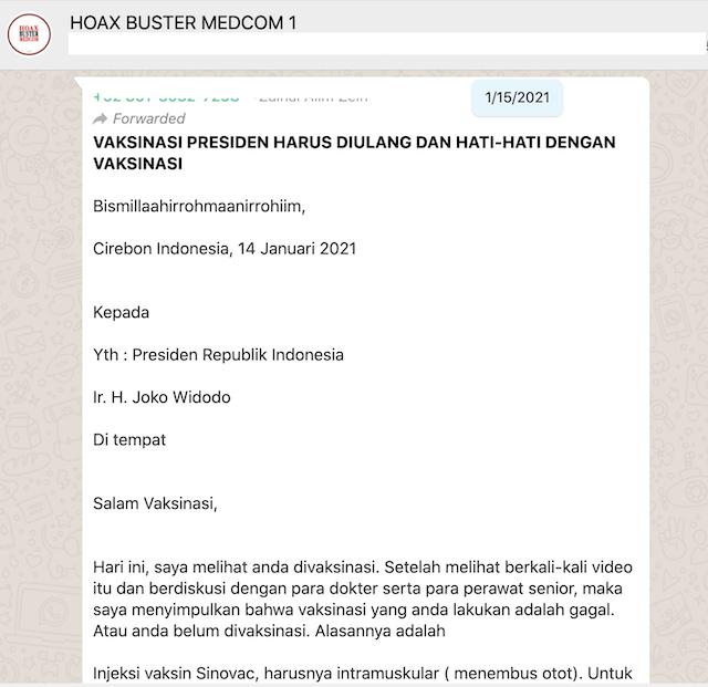 [Cek Fakta] Benarkah Vaksinasi Covid-19 Jokowi Gagal dan Harus Diulang? Ini Faktanya