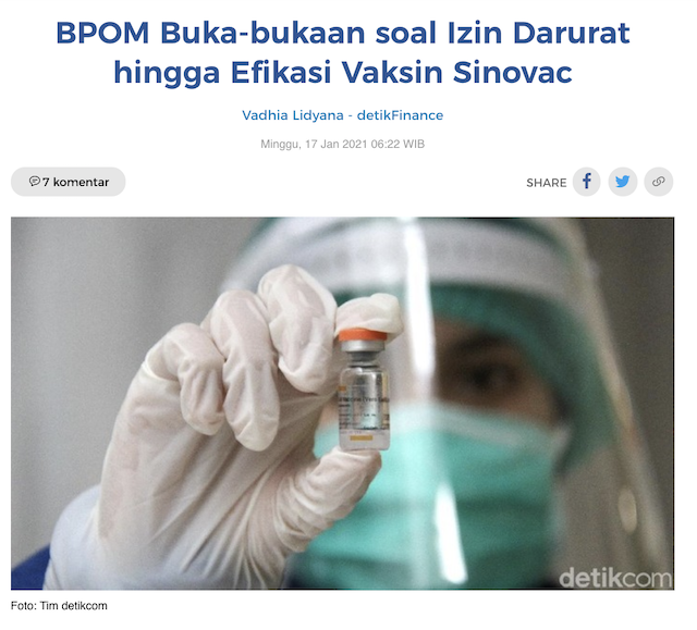 [Cek Fakta] Benarkah Ketua BPOM Mendapat Ancaman dan Tekanan untuk Mengeluarkan Vaksin Covid-19? Ini Faktanya