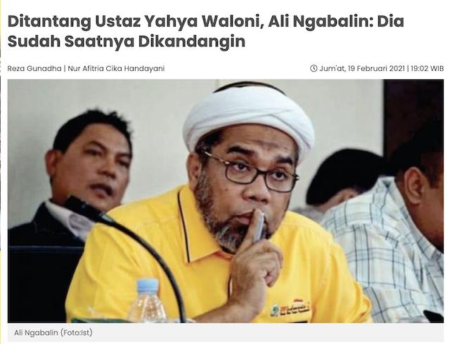 [Cek Fakta] Ustaz Yahya Waloni Diamuk Massa? Ini Faktanya