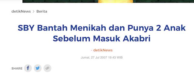 [Cek Fakta] Beredar Video dengan Narasi SBY Menikah Dua Kali? Ini Faktanya