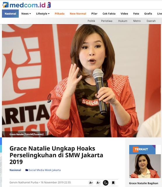 [Cek Fakta] Beredar Percakapan Mesum Ahok dan Grace Natalie, Itu Hoaks