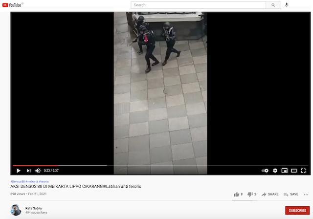 [Cek Fakta] Beredar Video Polisi Tiongkok Gelar Latihan Di Lippo Cikarang? Ini Cek Faktanya
