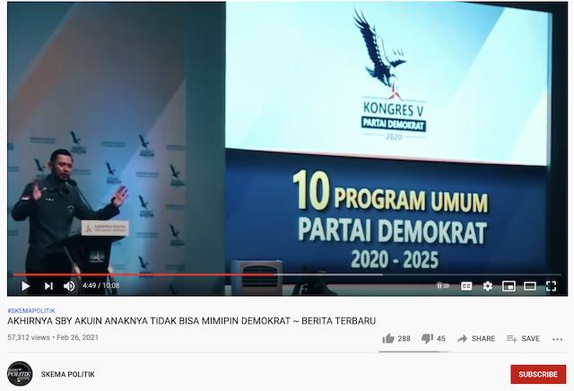 [Cek Fakta] SBY Akui Anaknya tak Bisa Mimpin Partai Demokrat? Ini Faktanya
