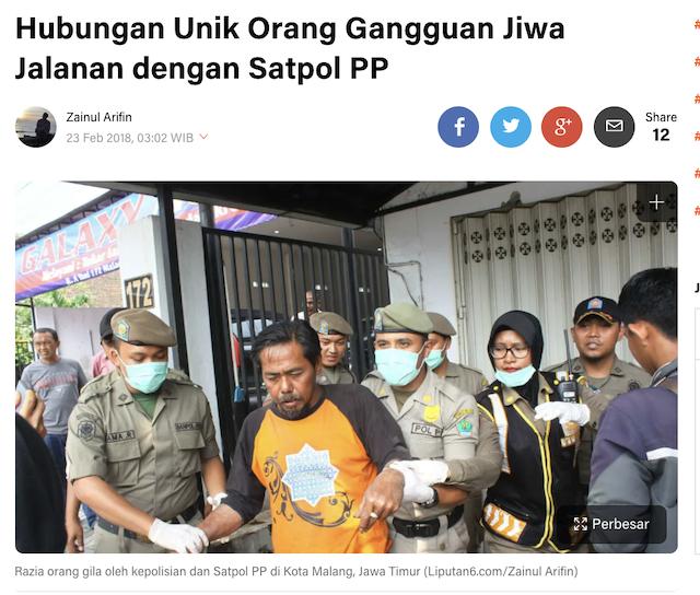 [Cek Fakta] Foto Orang Gila Ngamuk Ingin Jokowi 3 Periode? Ini Faktanya