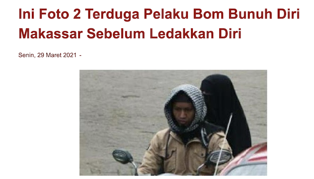 [Cek Fakta] Beredar Foto Terduga Pelaku Bom Bunuh Diri Mirip Presiden Jokowi? Ini Faktanya