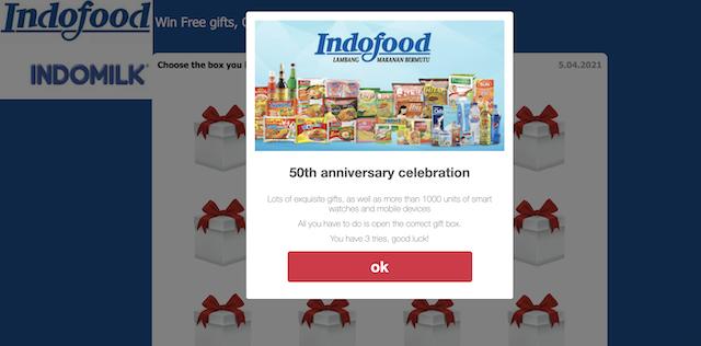 [Cek Fakta] Indofood Rayakan Ulang Tahun ke-50 dengan Berbagi Ribuan Jam Tangan Pintar? Ini Faktanya