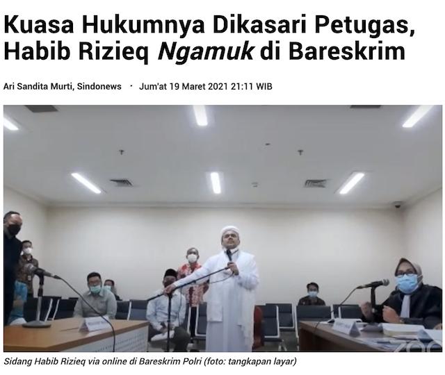 [Cek Fakta] Beredar Suara Rizieq Shihab Disiksa Satuan Polri Densus 88? Ini Faktanya