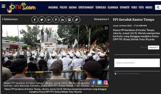 [Cek Fakta] Foto Sejumlah Mantan Anggota FPI Bersumpah Bunuh Diri Massal jika Rizieq Shihab tidak Dibebaskan? Ini Faktanya