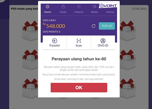 [Cek Fakta] Link OVO Bagikan Ribuan Jam Tangan Pintar? Ini Faktanya